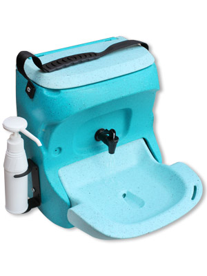 KiddiWash portable childs handwash unit in blue
