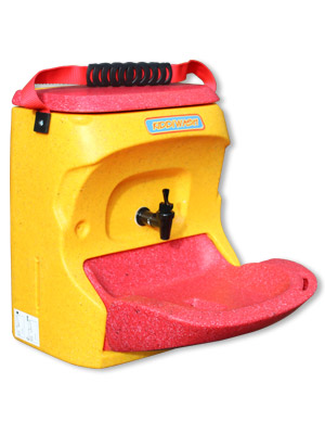 KiddiWash portable childs handwash unit in yellow