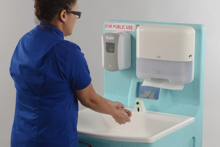 Portable sinks can help control infection 