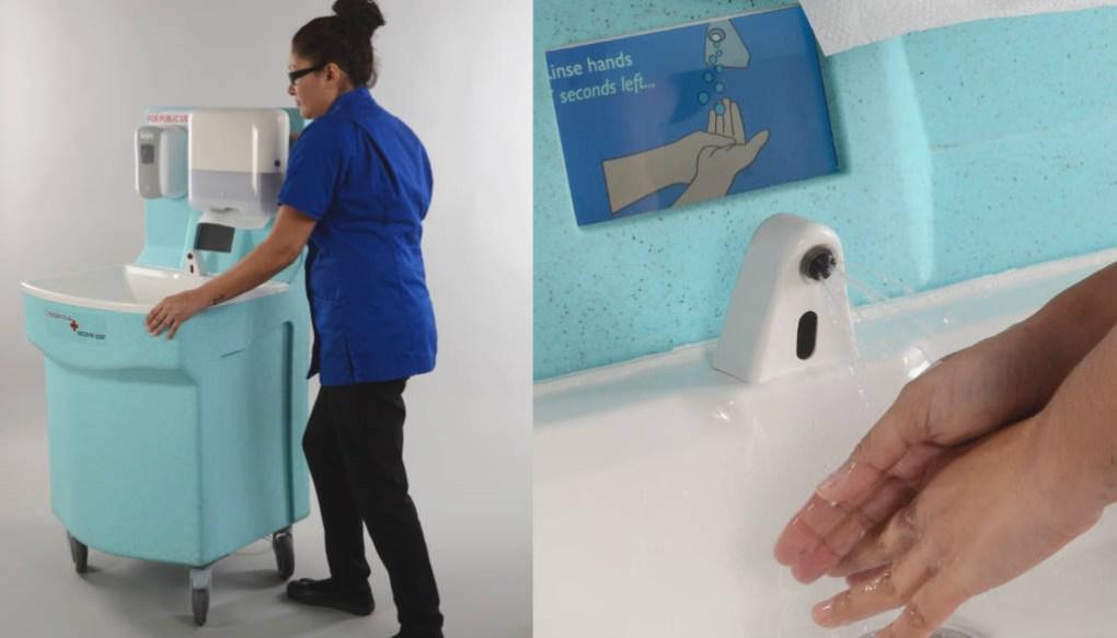 The Teal MediWash portable hand wash unit