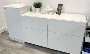 A Teal HandSpa hand wash unit installed in a north London beauty salon