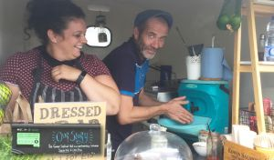 Handeman Xtra portable sink at the Gower Street Food Hut
