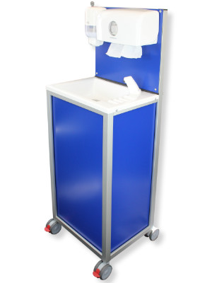 The Teal CliniWash is a highly mobile handwash unit