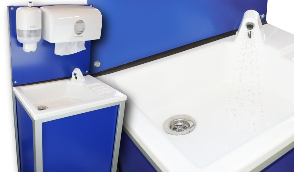 The new CliniWash portable handwash unit for caterers