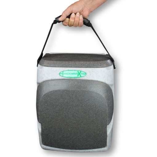The HandeMan Xtra 230V hand wash unit is easy to carry