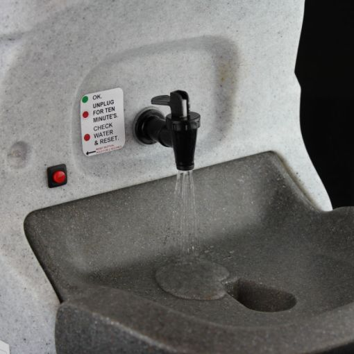 The water flow from the HandeMan Xtra 230V hand wash unit