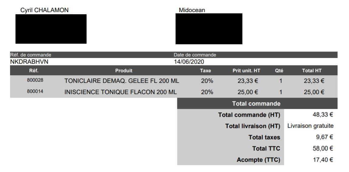 Prestashop : module de paiement par acompte sur facture
