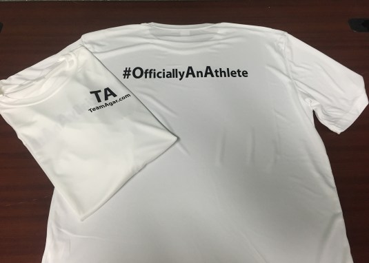 Offically an athlete t shirt