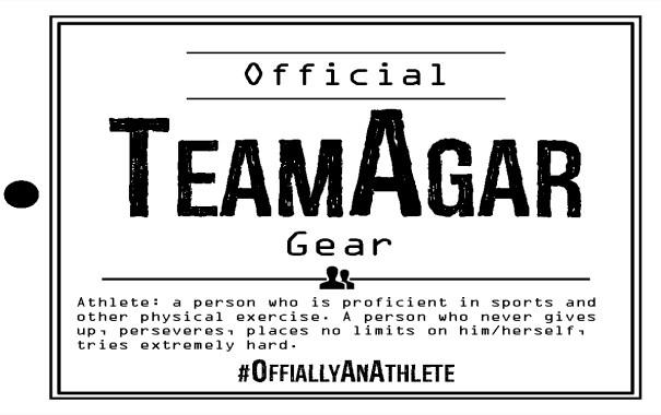 Team Agar licensed clothing tag