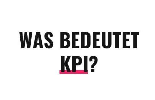 Was bedeutet KPI?