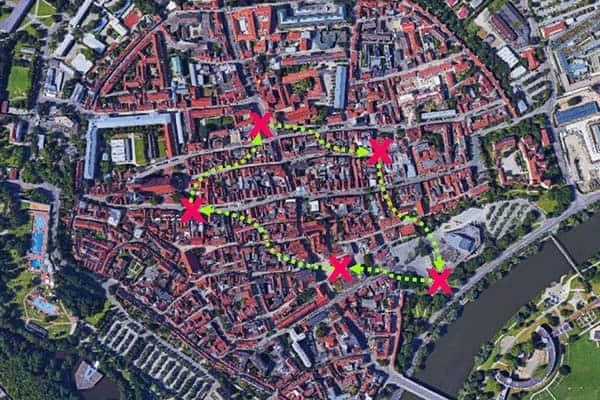 Sinnbildliche Darstellung der City-Challenge in Ingolstadt