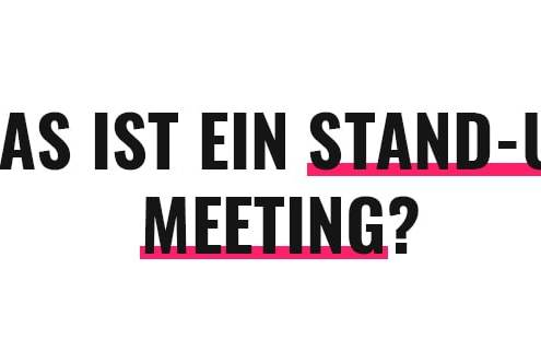 Was ist ein Stand-up Meeting?