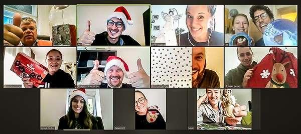Virtuelle Weihnachtsfeier Webkonferenz