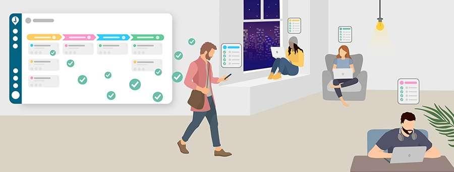 Virtuelle Teams arbeiten mit Joinpoints als Projektmanagement-Tool