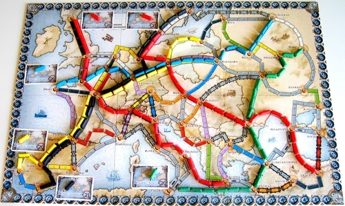 Ticket To Ride Europe Team Board Game