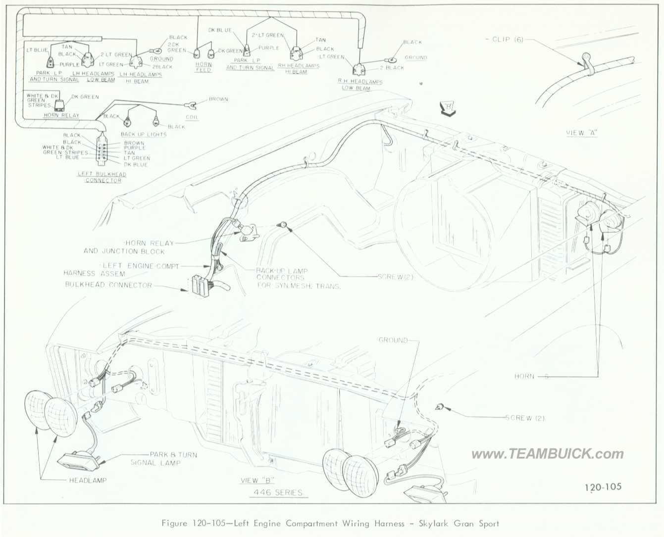 Buick Skylark Gran Sport Left Engine Compartment