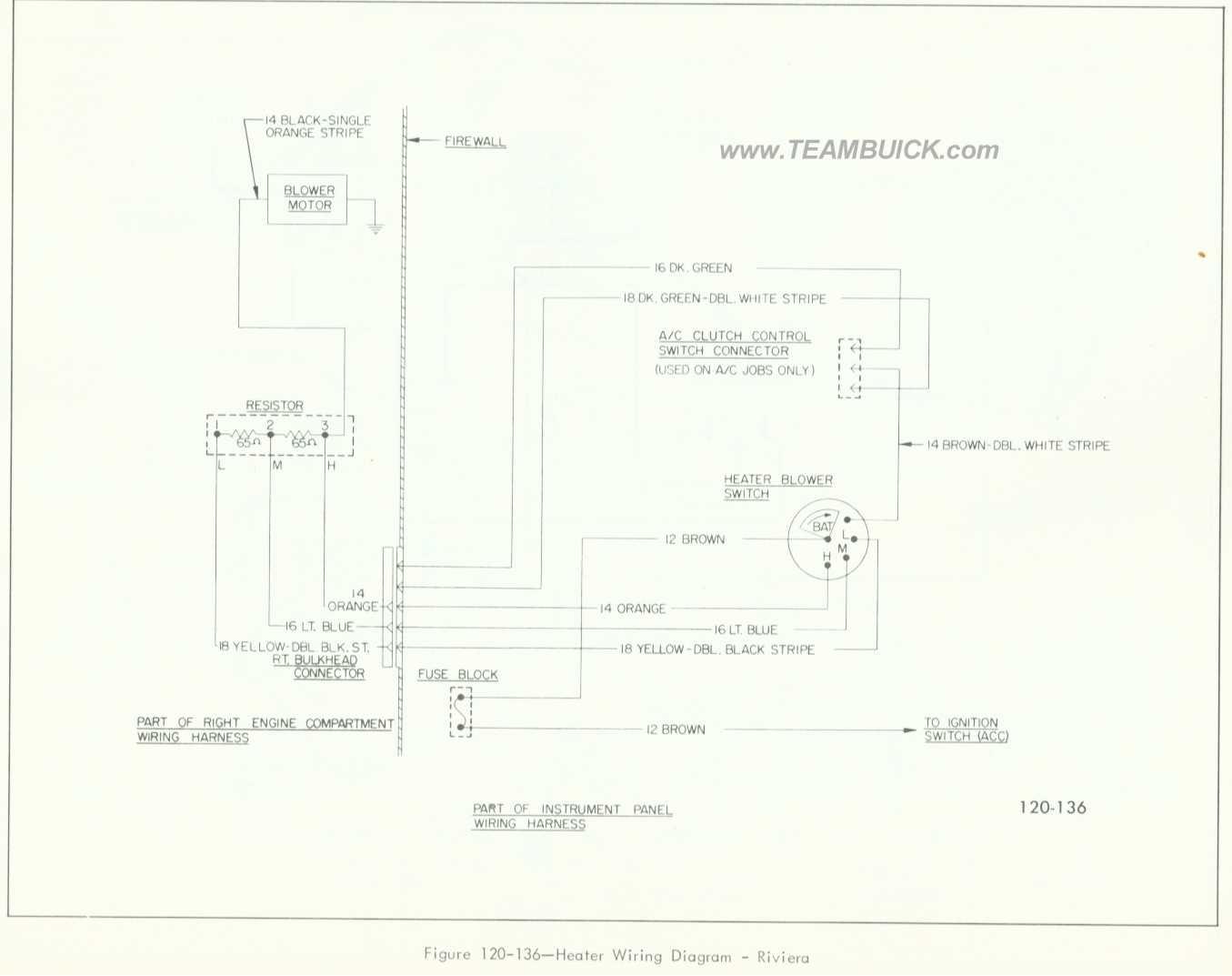 Buick Riviera Heater Wiring Diagram