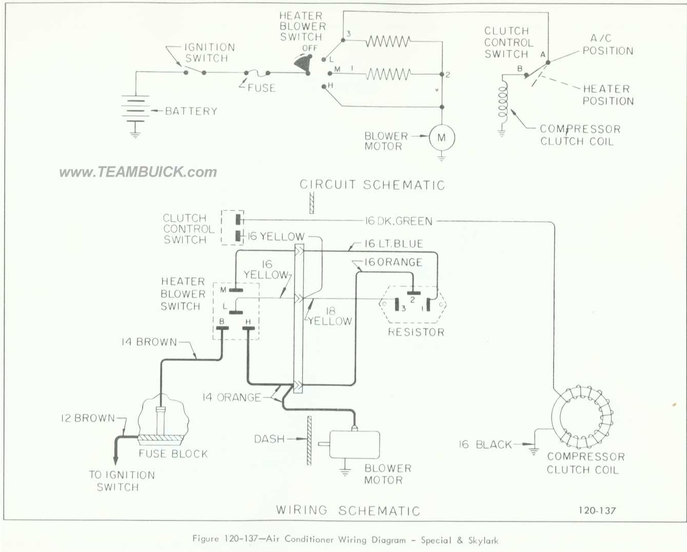 Buick Special Skylark Air Conditioner Wiring Diagram