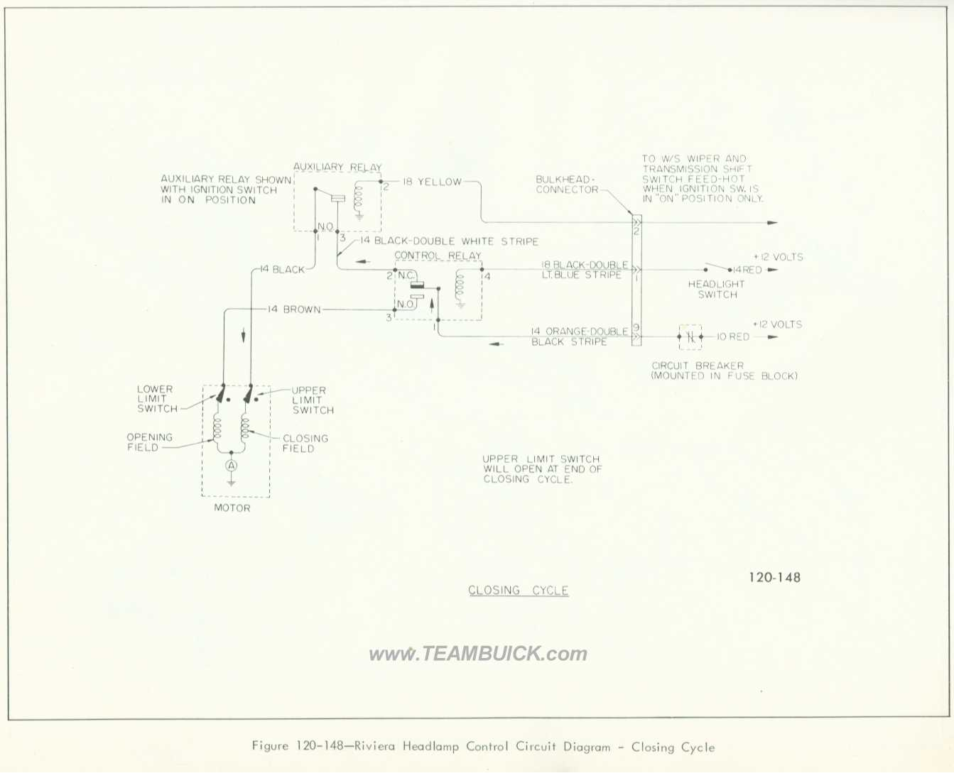 Buick Riviera Headlamp Control Circuit Diagram