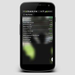 TeamCard mobile app points