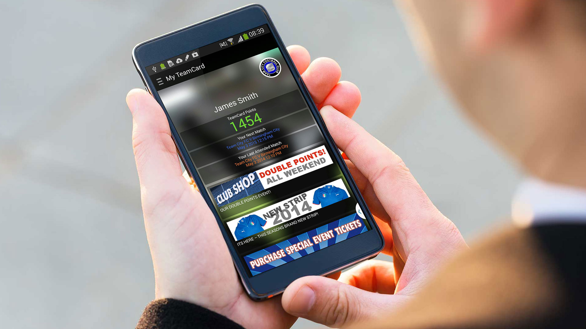 TeamCard mobile app