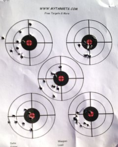 Using a .22 for practice