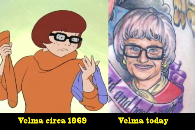 Velma Scooby Doo Bad Tattoos of The Golden Girls America's Worst Tattoos Ever Ugliest Tattoos awful ugly stupid people funny pictures awkward family photos worst family photos horrible tattoos terrible nasty ellen