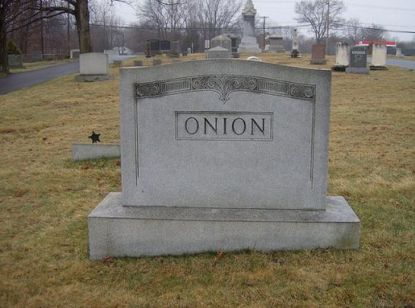 Onion Funny tombstones, funny gravemarkers funny headstones funny names stupid names sexual innuendos bad tattoos worst tattoos funny signs sexual innuendos funny halloween awkward family photos bad family worst family