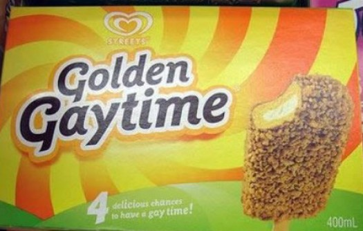 Golden GayTime Ice Cream ~ 25 of the Worst Bad Product Names