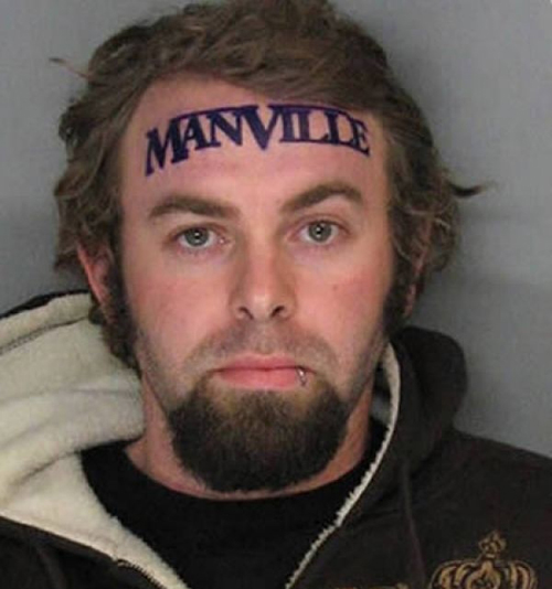 Mugshot Tattoos Manville, Worst Tattoos Ever, Funny Tattoos, Funny Pictures Ugliest Tattoos, Horrible, Stupid Tattoos
