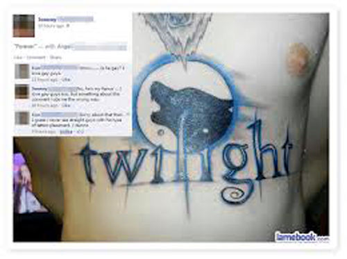 twilight tattoo, new moon Bad Tattos, Worst Tattoos Funny Tattoos Studpid tattoos, body art tramp stamps horrible tattoos best tattoos awesome tattoos body piercings crazy tattos on arm face tats tatto removal worst ever