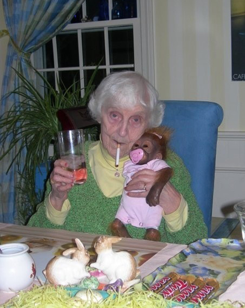 Funny Smoking Granny with Monkey, Grandmother bad family photos worst family photos, funny pictures, awkward family photos kids dance recital funny pictures, awkward bad family photos, bad family photos, worst family photos, funny pictures, random humor weird family