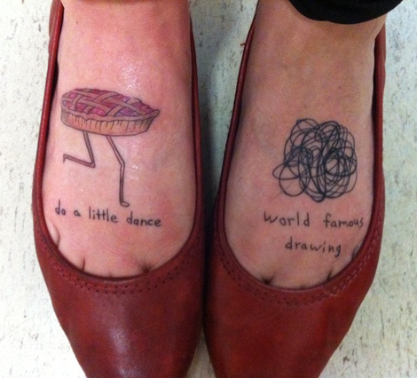 Foot tattoos, Pie, Bad Tattoos, Worst tattoos, funny pictures, horrible, ugliest tats stupid