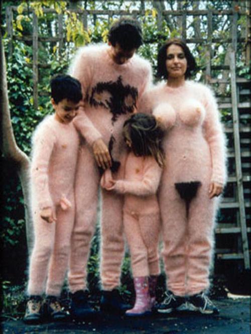 Family in furry costumes~Worst Halloween Costumes: 23 Bad, Stupid & Tasteless