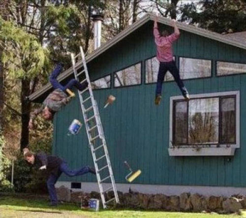 falling off ladder, wtf moments, funny pictures funny people worst family photos bad family awkward family photos random humor college humor photobombs weird people worst bad tattoos strange that's what she said wtf epic fails