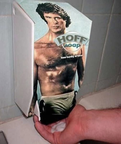 David Hasselhoff Soap Dispenser, funny pictures funny people worst family photos bad family awkward family photos random humor college humor photobombs weird people worst bad tattoos strange that's what she said wtf epic fails