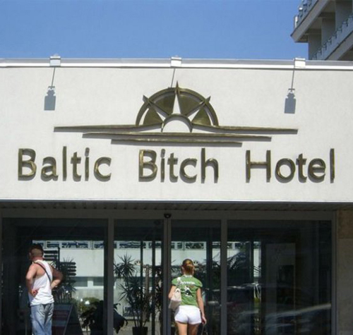 Baltic Bitch Hotel Paris Hilton funny pictures stupid people weird pictures random bad family photos awkward family photos product names