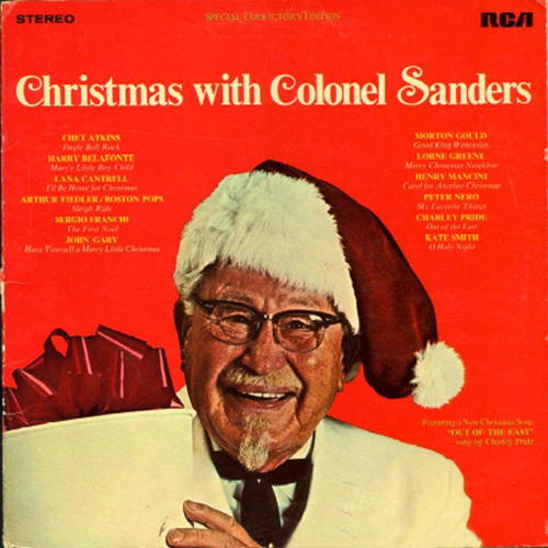 Colonel Sanders Christmas bad album covers, worst album covers, funny album covers worst tattoos bad tattoos awkward family photos ellen bad family horrible ugliest classic albums