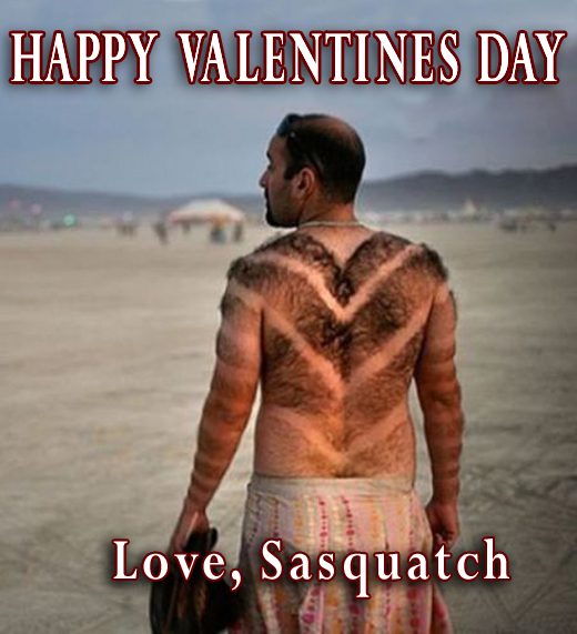 Happy valentines day love Sasquatch back hair man with hairy back back hair heart funny pictures dumb crazy people awkward family photos worst tattoos bad tattoos horrible random pics strange bizarre wtf fail stupid people photobombs stupid humor redneck humor weird people pic dump people of walmart