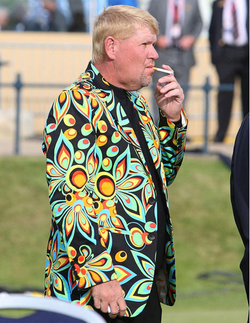 John Daly ugly flowed jacked Worst dressed men fashion disasters fashion fails worst tattoos bad tattoos worst family photos funny family pictures awkward family photos weird poorly dressed men males guys ugly ugliest clothes horrible awful wtf