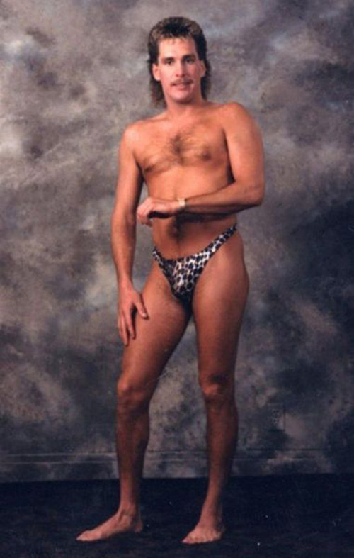 Man posing in Thong portrait Bad Family Portraits, Bad Family Photos, Ellen, funny family photos, worst family pics, funny pictures, awkward family photos, wtf, ugly people, stupid people, crazy people, people of walmart