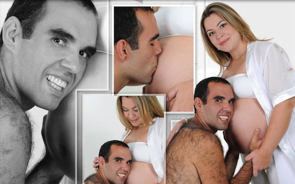 Creepy Sasquatch Daddy indeed! Bad photos pictures, funny pregnant, funny pregnancy pictures, worst pregnancy pictures, bad maternity photos, funny maternity, funny pictures, awkward family photos strange weird crazy stupid man with hairy back