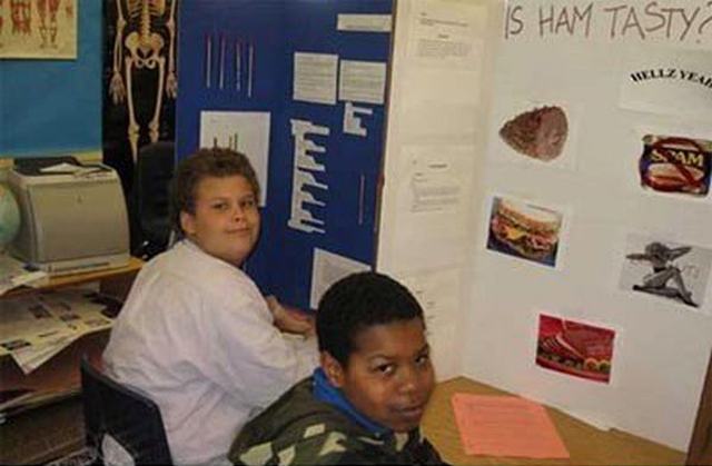 Ham is tasty ~ 36 Funny School Science Fair Projects!