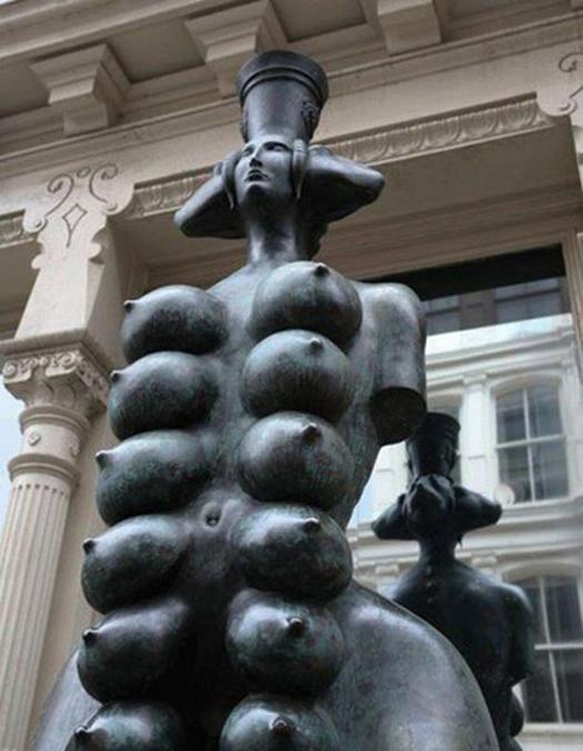boobs Funny Statues Weird Statues Bizarre Sexual Strange Statues Awkward Crazy Art