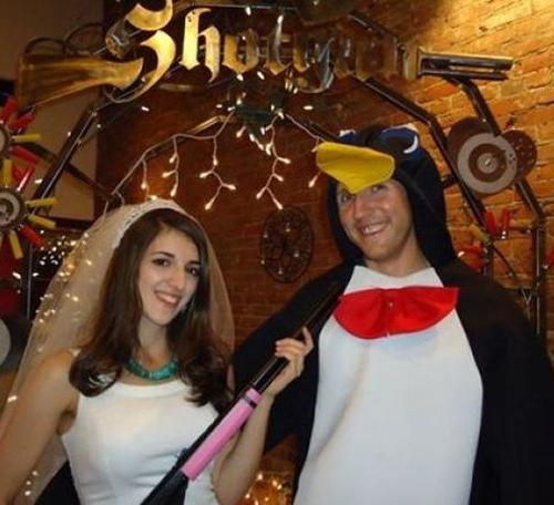Shotgun wedding groom penguin costumeFunny Wedding Pictures Bad Wedding Photos Ugly Wedding Dresses Fail Horrible Awkward Family worst strange Brides