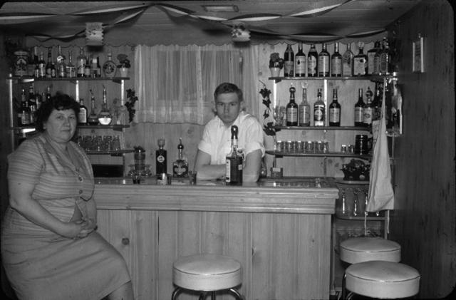 Vintage 1950s Basement Bar - Funny Awkward Family Photos. Strange & Crazy