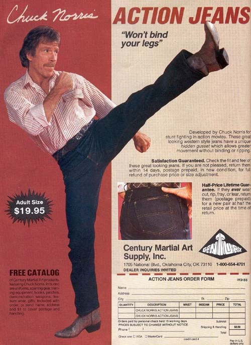 Action Jeans Chuck Norris – Strange Weird Vintage Products & Ads