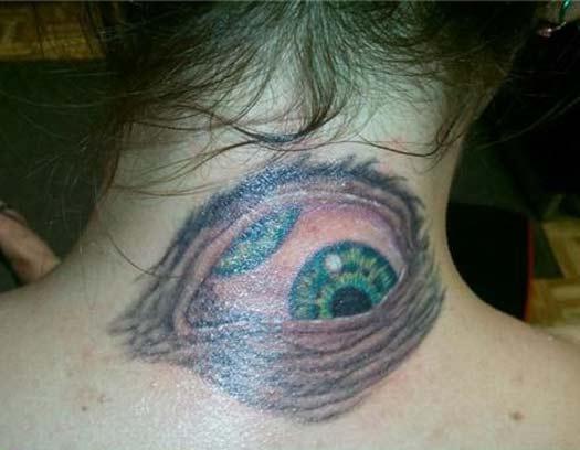 Eyeball on Neck – Bad Tattoos Worst Tattoos Regrettable Ugliest Tats WTF Funny