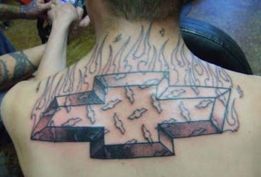 Chevy Logo – The Worst Bad Tattoos, The Ugliest Regrets, too.