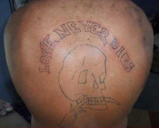 Love Never Dies – The Worst Bad Tattoos, The Ugliest Regrets, too.